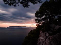 Makarska (densshod) Tags: water woods warm outdoor olympus ocean out contrast clouds color coast croatia cloud cloudsstormssunsetssunrises longexposure light landscape lake nd