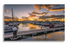 Boats (Steven Peachey) Tags: sunset sky dusk clouds marina boats light exposure canon hartlepool uk england summer 2017 golden canon6d ef1740mmf4l lee09gnd lightroom leefilters northeastcoast goldenhour stevenpeachey hartlepoolmarina water reflections explored explore