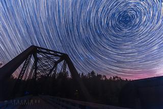 Star trails, Arundel-Bridge