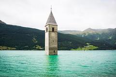 Flooded (wiedenmann.markus) Tags: nikon1 nikon landscape mountain alpes village underworld floored lake nature southtyrol reschen flood tower churches reschensee