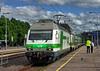 Finnish Railways Class Sr2 No. 3236 at Salo Station on 3 July 2017 (Trains and trams eveywhere) Tags: sr2 electric locomotive finnishrailways vr trains rautatie sähköveturi finland swiss marsu salo