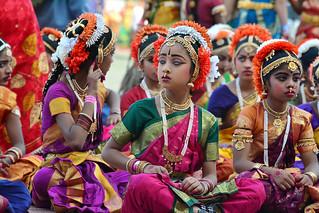 Kuchipudi Guinness Dance -Hyderabad 2014 (12)