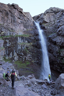 Waterfall in the Atlas mountains