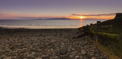 Day 103, (pedalpusher139) Tags: beach silloth cumbria sea sunset sky sun coastal