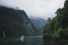 The pier at Salet, Berchtesgaden (Sunny Herzinger) Tags: herkunft dedeutschland berchtesgaden europa fujixpro2 bavaria boat königssee bayern obersee july schönauamkönigssee germany de