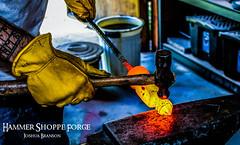 Hot Steel (HammerShoppeForge) Tags: viking norse celtic bladesmith blacksmith joshuabranson warhammer steel hot forge anvil hammer heat fire