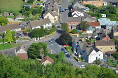 Village Centre (sgreen757) Tags: north nibley tyndale monument glos gloucestershire view viewpoint cotswold way nikon d7000 village centre road house houses arial aerial