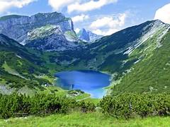 das Blaue Auge des Rofan, Zireiner See (aNNa schramm) Tags: see blau berge alpen landschaft landscape rofan tirol outdoor himmel wolken bergsee sonnwendjoch