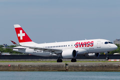 HB-JBA-2-EGLC-17JUL2017 (Alpha Mike Aviation Photography) Tags: swiss lx swr airlines bombardier cseries cs100 100 hbjba londoncity airport lcy eglc