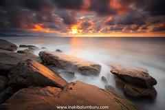 Ocasus (Obikani) Tags: landscape seascape sunset rocks sea waves clouds color colorful tranquil serene gipuzkoa basquecountry euskadi nature paisaje mar