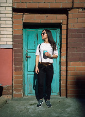 Ira_005 (newmandrew_online) Tags: filmisnotdead film filmphotografy 35mm ishootfilm mju mjuii olympus girl street minsk belarus lomography lomo color expired