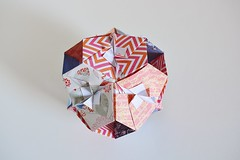 Veritas Kusudama (Byriah Loper) (Byriah Loper) Tags: origami origamimodular modularorigami modular kusudama paperfolding paper polygon polyhedron byriahloper crease