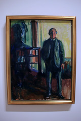 Self-Portrait with Hands in Pockets, by Edvard Munch (JB by the Sea) Tags: sanfrancisco california july2017 urban financialdistrict sanfranciscomuseumofmodernart sfmoma painting edvardmunch expressionist expressionism