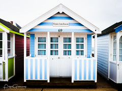 'Pennies From Heaven' Beach Hut On The Seafront At Southwold, Suffolk (Peter Greenway) Tags: beachhuts southwold seasideport seaside seafront suffolk flickr huts