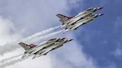 USAF Demo Team 'Thunderbirds' (william.spruyt) Tags: usaf thunderbirds f16 fighter jet aviation airplane
