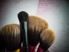 A woman's secret (*mirt) Tags: beauty pink 7dwf closeup macro makeupbrushes
