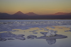Atacama Sunset (Luc Stadnik) Tags: chile lagoon atacama desert salt reflection sunset salty colors