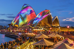 Colours (merbert2012) Tags: orange vividsydney australia sydneyharbour sydneyoperahouse worldheritagesites longexposure nikond800 lightshow travel fun