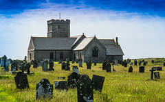 The beautiful old church of Saint Materiana at Tintagel (Geordie_Snapper) Tags: canon5d3 canon70200mmf4islusm canon2470mm cornwall june stmaterianaschurch summer sunnyovercast tintagel
