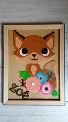 Renard (Claire Coopmans) Tags: renard hamabeads hama perler pixels pixel pixelart fox baby babygirl decoration flower fleur belgium belgique