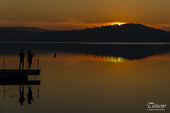 Reflections at sunset (Tiziano Photography) Tags: reflections sunset lake lakefront water peoples nikond610 d610 nikon landscape watercolor gold riflessioni tramonto lago lungolago acqua persone paesaggio