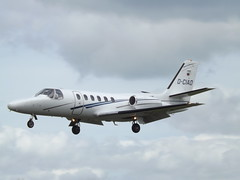 D-CIAO Cessna Citation 550 Private (Aircaft @ Gloucestershire Airport By James) Tags: gloucestershire airport dciao cessna citation 550 private bizjet egbj james lloyds