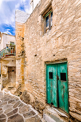 Lefkes, Paros (Kevin R Thornton) Tags: d90 nikon travel street facade green mediterranean greece door architecture lefkes paros egeo gr