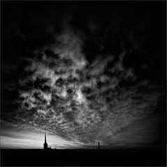 Õhtu (Olli Kekäläinen) Tags: work4303 nikon d800 photoshop ok6 square ollik 2017 20170722 bw night tallinn estonia clouds dark view nightfall