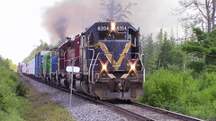 907 in the stretch byTracy (MaineTrainChaser) Tags: 72017 nbsr nb trains train 907 west westbound mcadam subdivision