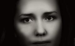 Face (Allan Jones Photographer) Tags: face female woman portrait closeup bw blackandwhite arty artistic mono monochrome beauty allanjonesphotographer vignette canon5d3 canonef135mmf2lusm goodphoto