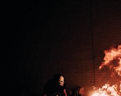everythingmustgo (lucdakook) Tags: fire demon mask brickwall darkart