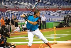 Kevin Vargas takes his cuts during the 2017 High School Home Run Derby at Marlins Park. (apardavila) Tags: asg allstargame kevinvargas mlb majorleaguebaseball marlinspark ballpark baseballhighschoolhomerunderby sports stadium