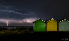 Beach Lightning (fieldino34) Tags: nikon nikond750 nikonphotography lightning storm electricity beach beachhut capture weather summer sussex beautiful power mothernature sea light electric sky colour clouds mysterious scary night nightscene nightsky