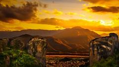 Monastery of the Holy Trinity (shchukin) Tags: landscape sunset meteora monastery orthodoxmonasteries holytrinitymonastery greece rocks sunlight shchukin nikond5200 nikon sigma sky