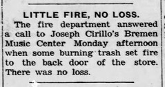 1954 - Cirillo small fire - Enquirer - 2 Dec 1954