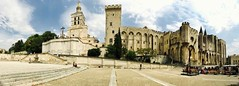 . The Palais is actually two joined buildings: the old palais... (Total TaiTai) Tags: cjfrance2017 celineinprovence2017 provence avignon palais des papes