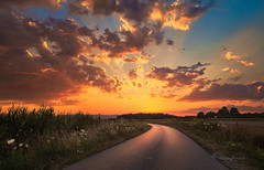 come away with me (cherryspicks (on/off)) Tags: road sunset landscape sky clouds croatia travel light nature scenery weather summer countryside