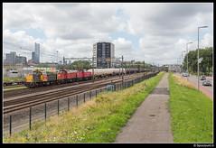 DBC 6461 + 6426 + 6454 - 61816 (Spoorpunt.nl) Tags: 25 juli 2017 db cargo dbc 6461 6426 6454 trein unit geleen lutterade 61816 rotterdam zuid skyline ketel staal wagen