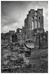 Tynemouth Priory and Castle (S.R.Murphy) Tags: architecture coast england englishheritage fujixt2 july2017 northeastengland tynemouth tynemouthpriory tynemouthcastle bw blackandwhite monochrome mono