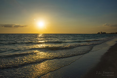 St. Pete Beach Sunset (J.L. Ramsaur Photography) Tags: jlrphotography nikond7200 nikon d7200 photography photo 2016 engineerswithcameras photographyforgod thesouth southernphotography screamofthephotographer ibeauty jlramsaurphotography photograph pic tennesseephotographer florida pinellascountyfl emeraldcoast beach ocean gulfofmexico sand waves alwaysinseason sunshinecity stpete stpetebeach stpetebeachfl stpetebeachsunset sunset sun sunrays sunlight sunglow orange yellow blue bluesky deepbluesky beautifulsky wherethemapturnsblue ilovethebeach bluewater blueoceanwater sea coast coastline floridagulfcoast landscape southernlandscape nature outdoors god'sartwork nature'spaintbrush reflection peaceful relaxing vacation