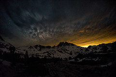 The fires of Mordor (speedcenter2001) Tags: sierranevada sierra sierraphile highsierra california anseladamswilderness mountains backpacking backcountry clouds stars night nightphotography d810 nikon20mmf35ai outdoor goodale snow light
