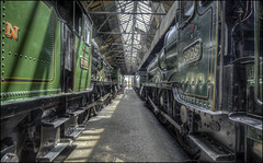Didcot Sheds 2 (Darwinsgift) Tags: didcot steam train centre museum oxfordshire engine sheds hdr photomatix nikkor 19mm f4 pc e tilt shift nikon d810 locomotives elitegalleryaoi bestcapturesaoi aoi
