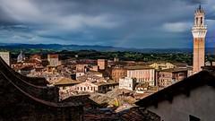 Siena (López Pablo) Tags: siena tuscany italy tower sky roof red cloud nikon d90