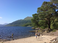 Loch Lomond and Ben Lomond (markshephard800) Tags: water highlands mountains trees beach lac lake benlomond scotland lochlomond loch
