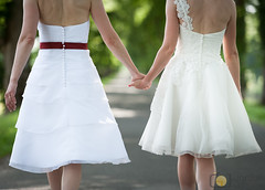 Hand to hand (grimaux.jordan) Tags: dress girls women wives lesbian gay homosexual wed wedding choice path way handtohand hand