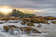 Tantallon Castle from Seacliff Beach (MilesGrayPhotography (AnimalsBeforeHumans)) Tags: a7ii 2870 sonyfe2870mmf3556oss britain beach ruins castle tantalloncastle cliffs dusk europe evening fe historic historicscotland iconic ilce7m2 landscape longexposure lens outdoors ocean oss photography rocks scotland seascape seacliffbeach sony sonya7ii seacliff northberwick eastlothian waterscape summer