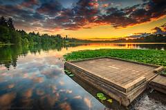 Simple Sunset (michaelsabijon) Tags: sunset landscape lake deer park canoncanada beautfulbritishcolumbia abigfave ngc
