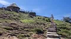 Path to the lodge hut (Hans van der Boom) Tags: holiday vacation southafrica lesotho zuidafrika semonkong maseru people marjon steps hut lodge lso
