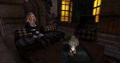 Alice in Dysphoria (Jiggy Stardust) Tags: jiggystardust jiggy stardust second life secondlife firestorm virtual surreal fantasy alice wonderland mad hatter tea party dark tattoo portrait