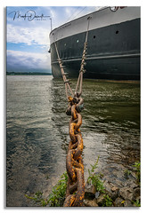 Shore Bound: (Mark Darnell) Tags: explored manisteemi boat place ship cityofmilwaukee tethered docked cruise historic sonyalpha gmaster cable lines lakemichigan museum